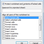 protect microsoft excel worksheet