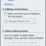 Microsoft Word - Restrict Formatting and Editing