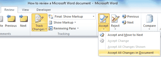 Microsoft Word - Review - Accept changes