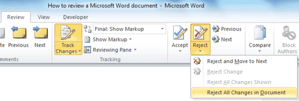 Microsoft Word - Review - Reject changes