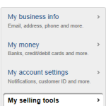 PayPal - My Selling Tools link