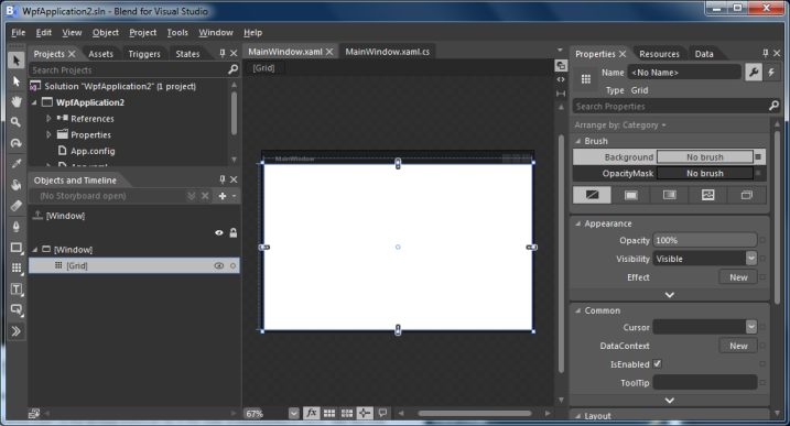 Microsoft Blend for Visual Studio - Project Canvas