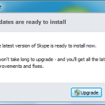 "Skype - ""Updates are ready to install"" dialog"