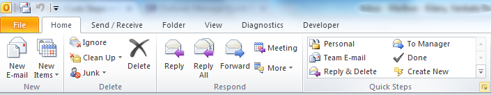 Microsoft Outlook - Manage Quick Steps icon