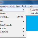 "Skype - ""Add Contact"" menu"