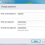 "Skype - ""Change Password"" dialog"