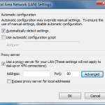 "Internet Explorer - ""Local Area Network Settings"" dialog"