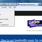 Internet Explorer - Show/Hide Menu bar