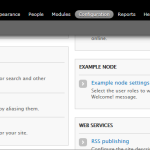 Drupal 7 - Configuration page with Example node