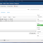 "Joomla 3 - ""Category Manager: Add A New Articles Category"" page"