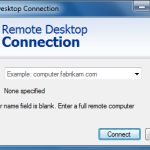 "Windows - ""Remote Desktop Connection"" application"