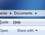 Windows Explorer - Menu bar