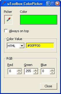 uToolbox Color Picker Tool Screenshot