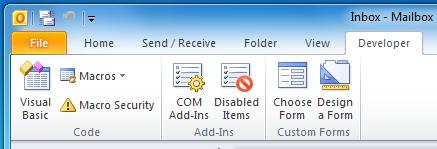 Manage Add-Ins
