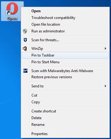 Windows - Pin to Taskbar
