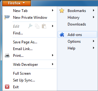Firefox - Enable or disable Add-ons or Plugins - CodeSteps
