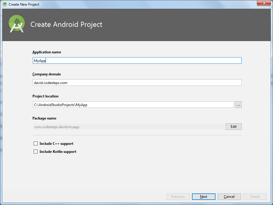 Android Studio : Create Android Studio - For Phones