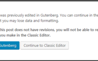 WordPress - Choose editor
