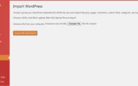 WordPress - Choose file to Import