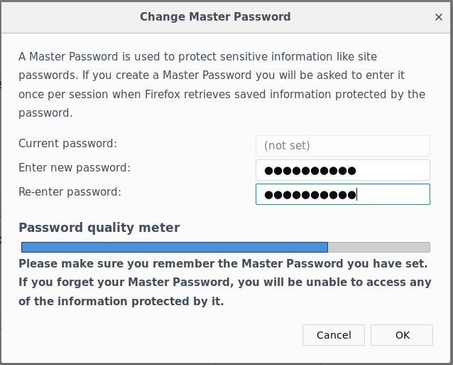 Firefox Master Passwort Abfrage Abschalten